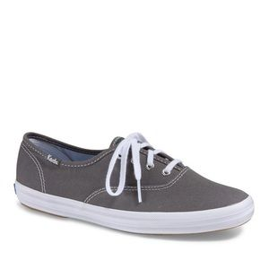KEDS-Gray Canvas Lace-up Boho Sneakers-Size 7.5